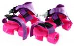 Wrotki dziecięce, regulowane, różowo-fioletowe Axer